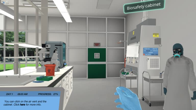 BSL 3 research laboratory
