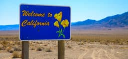 Photo of a California welcome sign