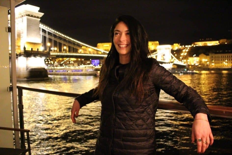 Marina on a bridge in Paris