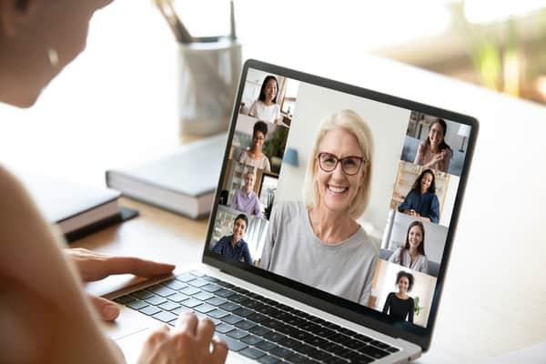 Teacher with virtual workshop