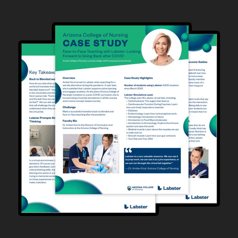Labster - Arizona College of Nursing Case Study - Dr. Amber Kool